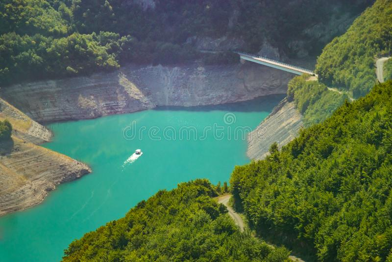 Lac Piva, Savnik Monténégro images stock