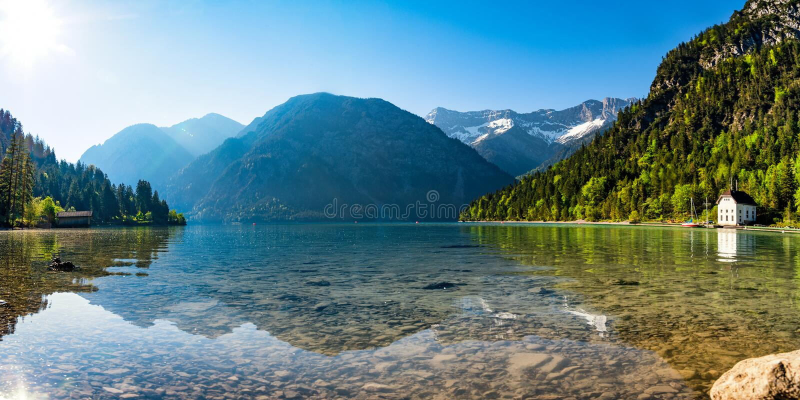 Lac Plansee, Autriche photographie stock