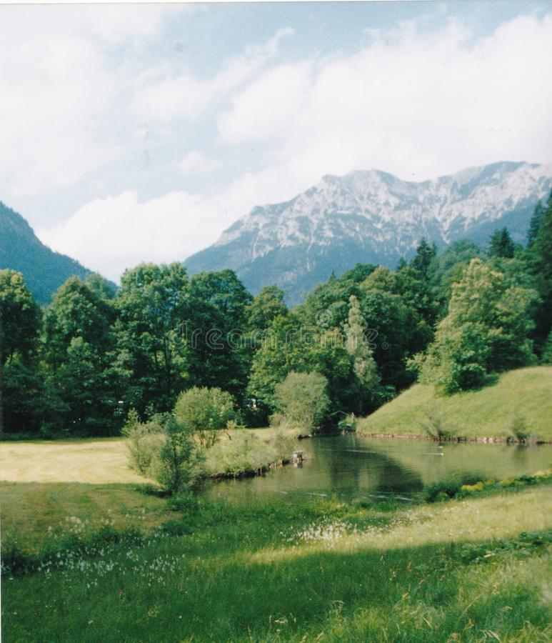 Lac pour des au sol de château photo stock
