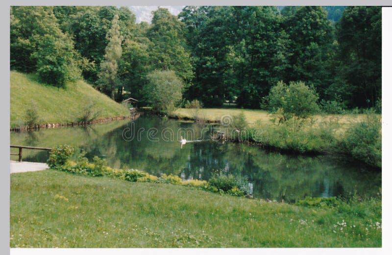Lac pour des au sol de château image stock