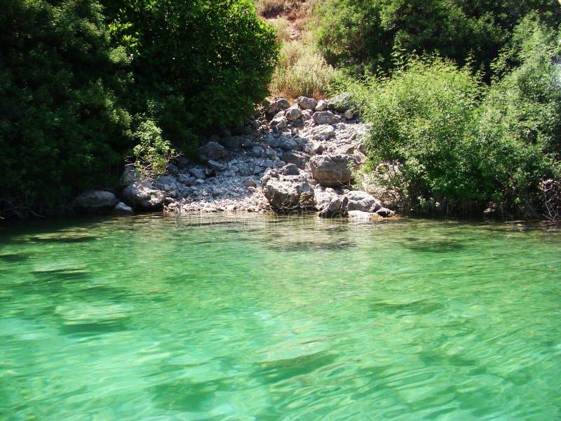 Lac pour des touristes image libre de droits