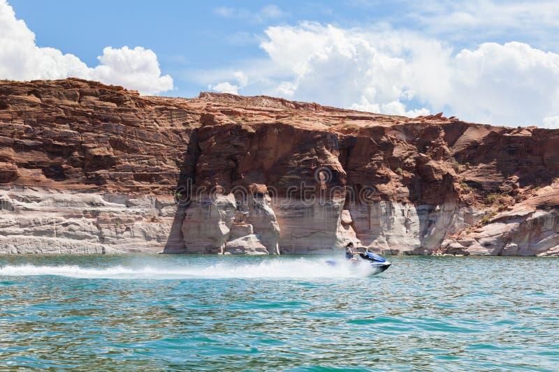 Lac Powell, en gorge de gorge en Utah et en Arizona image libre de droits