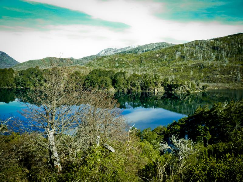 Lac près de Bariloche photographie stock