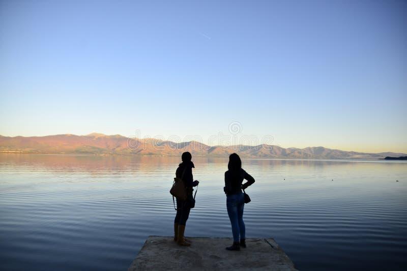 Lac Prespa dans Macédoine images libres de droits