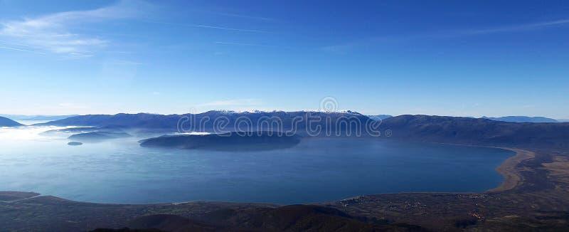 Lac Prespa, Macédoine images libres de droits