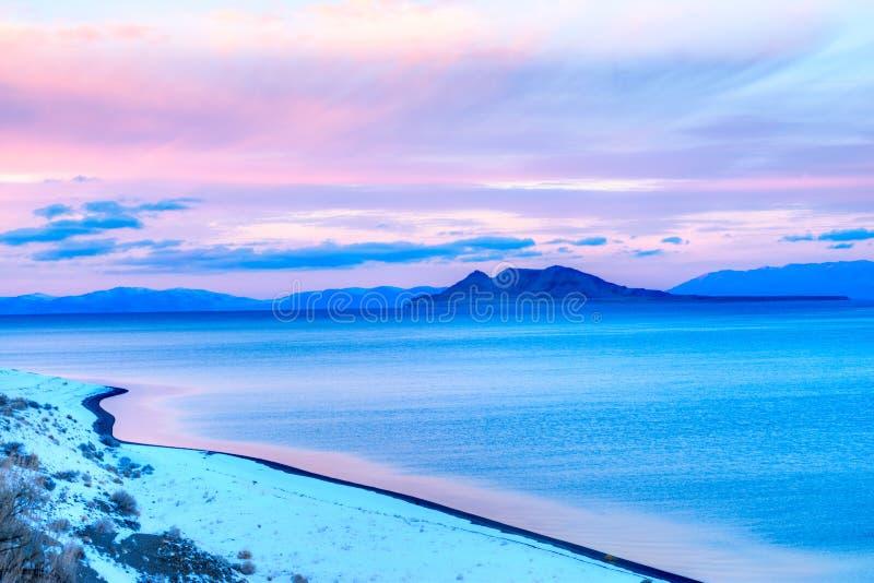 Lac pyramid photo libre de droits