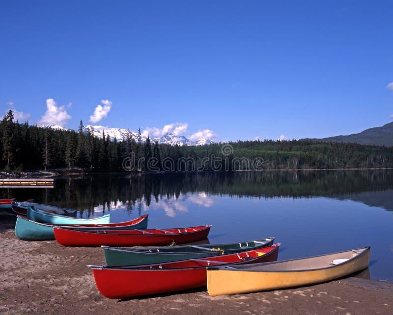 Lac pyramid, Alberta, Canada. photo libre de droits