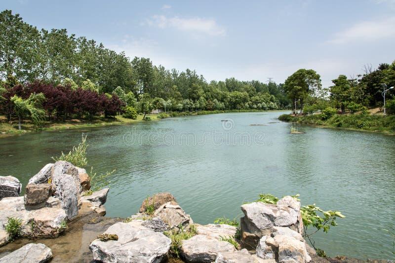Lac Qinglv image libre de droits