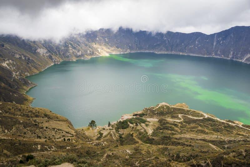 Lac Quilotoa en Equateur image stock