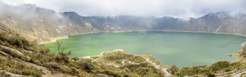 Lac Quilotoa en Equateur images stock
