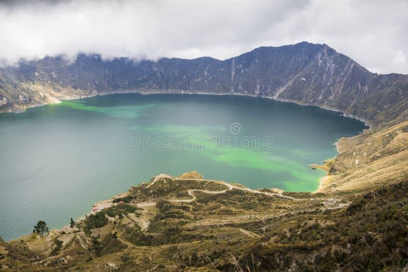 Lac Quilotoa en Equateur photo libre de droits