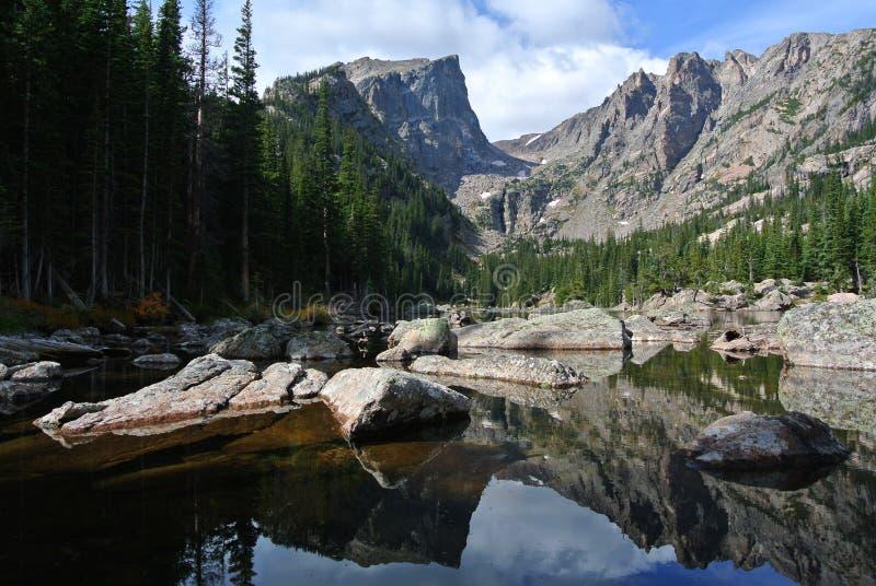 Lac rêveur, Rocky Mountain National Park, le Colorado images stock