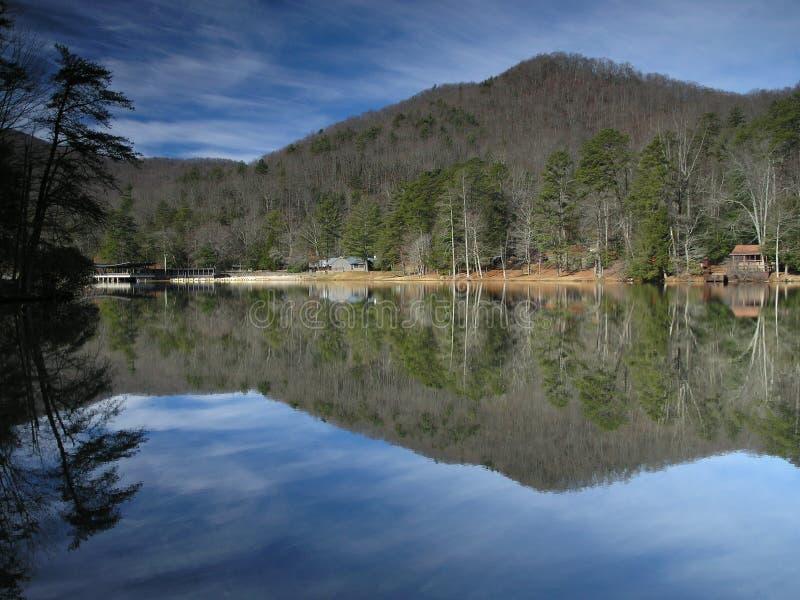 Lac reflété photos libres de droits