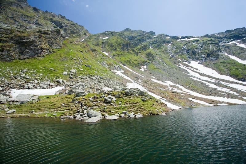 lac Roumanie de balea photo stock