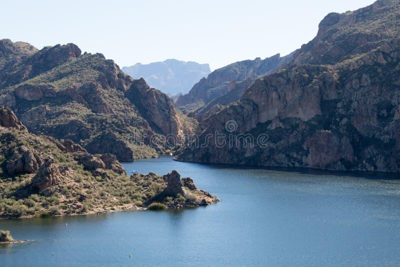 Lac Saguaro photographie stock libre de droits