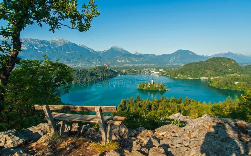 Lac saigné, vue d'en haut photographie stock