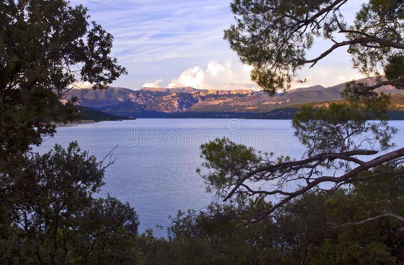 Lac Sainte Croix Du Verdon and the Grand Canyon of Verdon stock photography