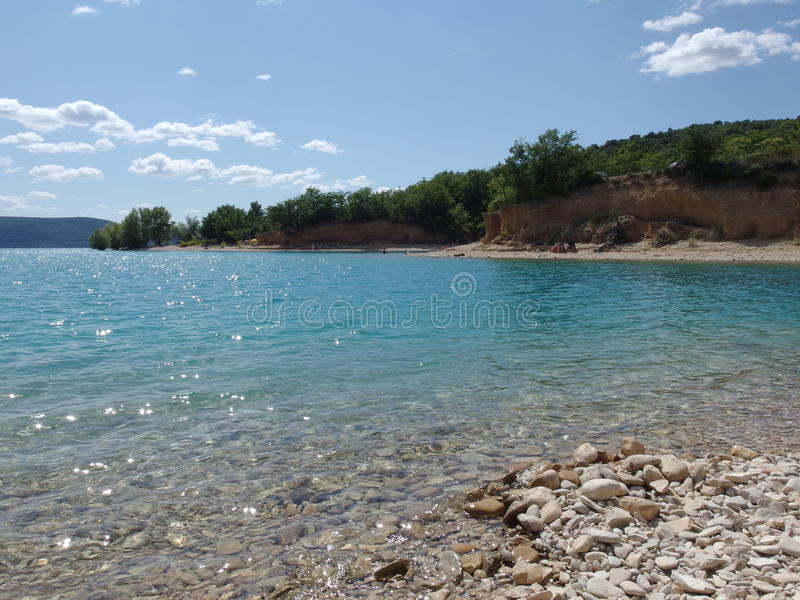 Lac Sainte croix du verdon, Provence photo stock