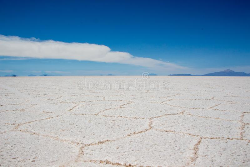 Lac salt Bolivie image stock