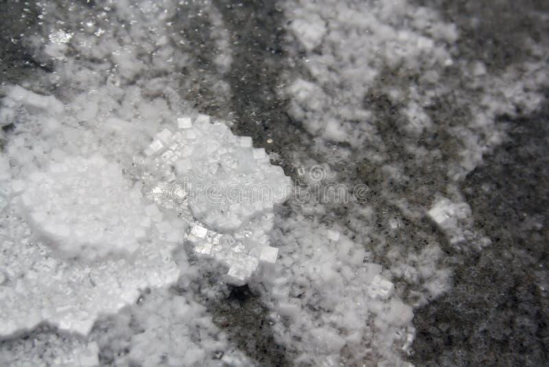 Lac salt Elton l'eau salée à la journée images libres de droits