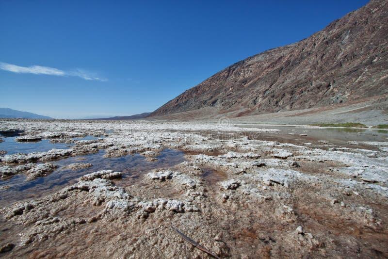 Lac salt en stationnement national de Death Valley image stock