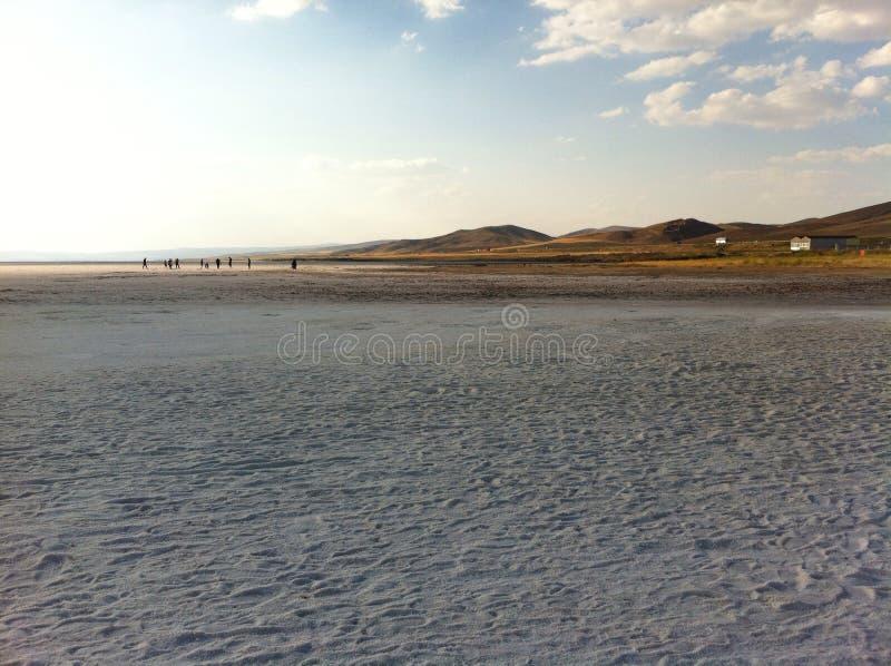 Lac salt en Turquie image stock