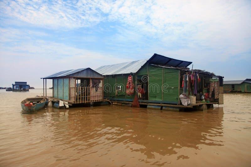 Lac sap de Tonle images libres de droits
