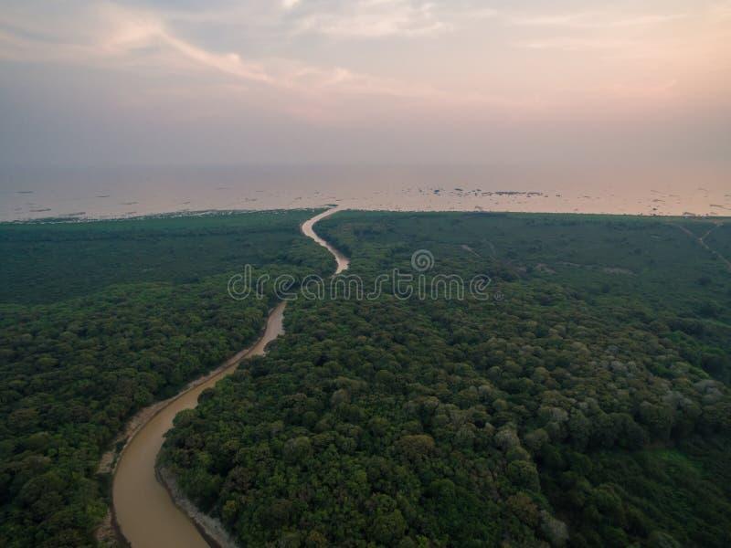 Lac sap de Tonle photos stock