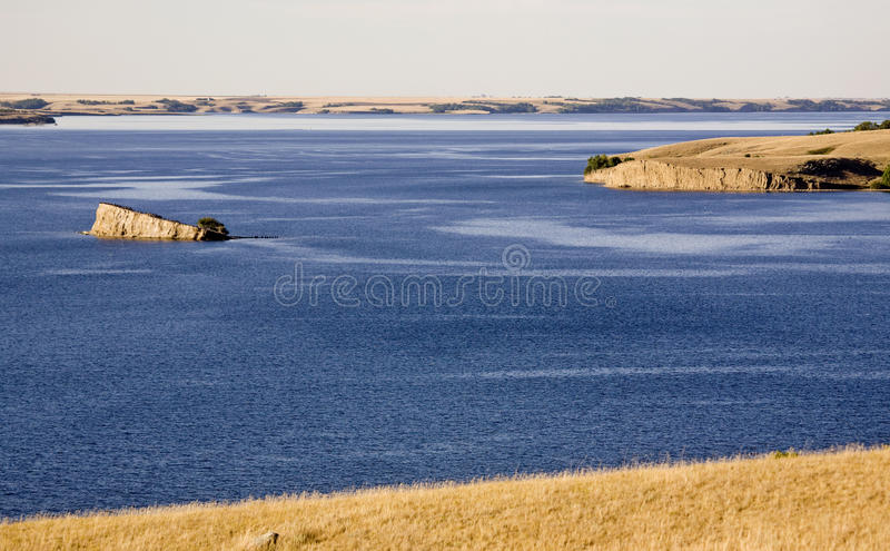 Lac Saskatchewan Diefenbaker photos libres de droits