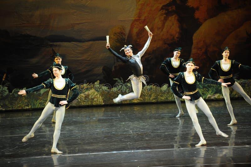 Lac sautant swan de clown-ballet photo stock