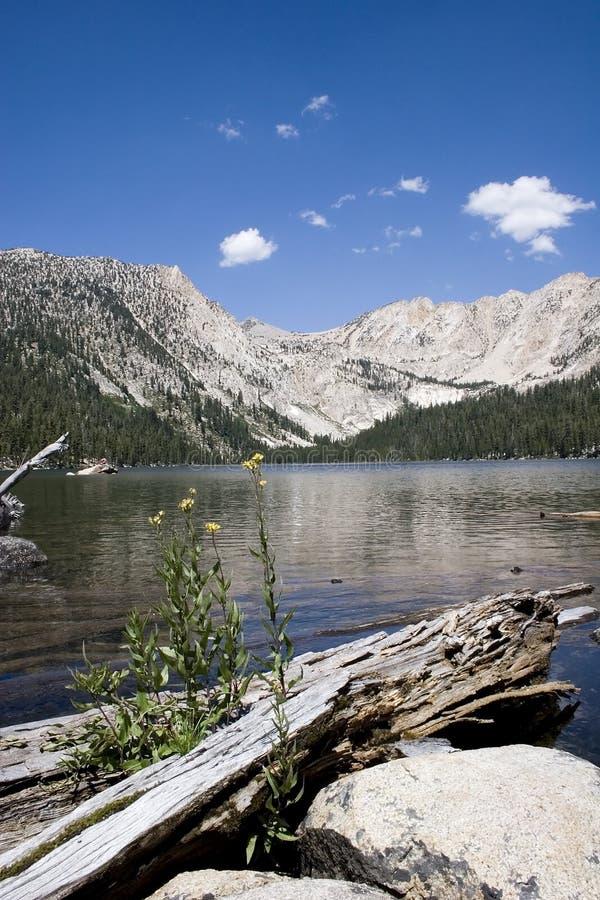lac scénique de montagne, baignoire de diables photo stock