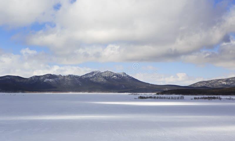 Lac Schuchye en parc national Burabay photos stock