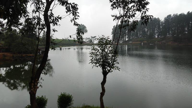 Lac Sembuwatta, domaine d'Elkaduwa, Sri Lanka photo stock