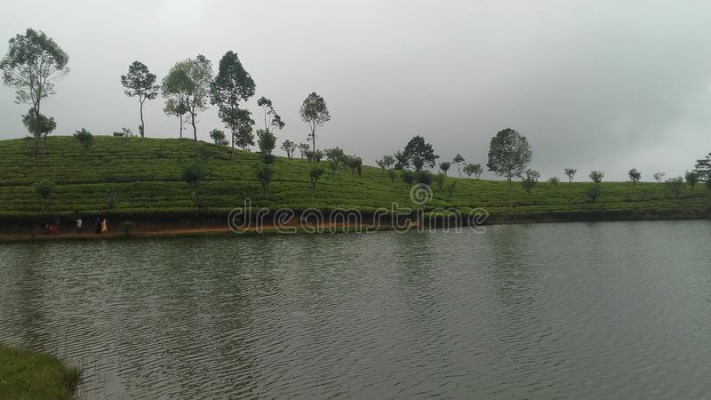 Lac Sembuwatta, domaine d'Elkaduwa, Sri Lanka images libres de droits