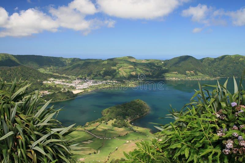 Lac sept cities - Açores image libre de droits