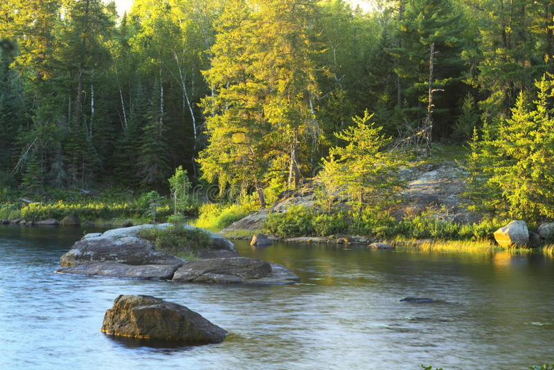 Lac serein image libre de droits
