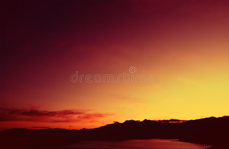 Lac Silverwood images libres de droits