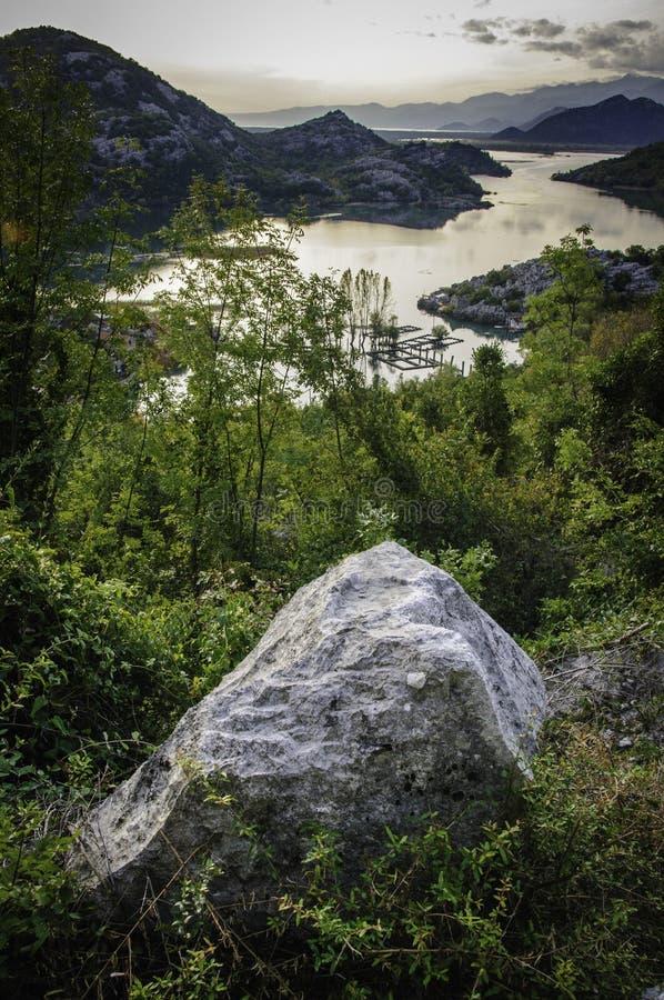 Lac Skadar images libres de droits