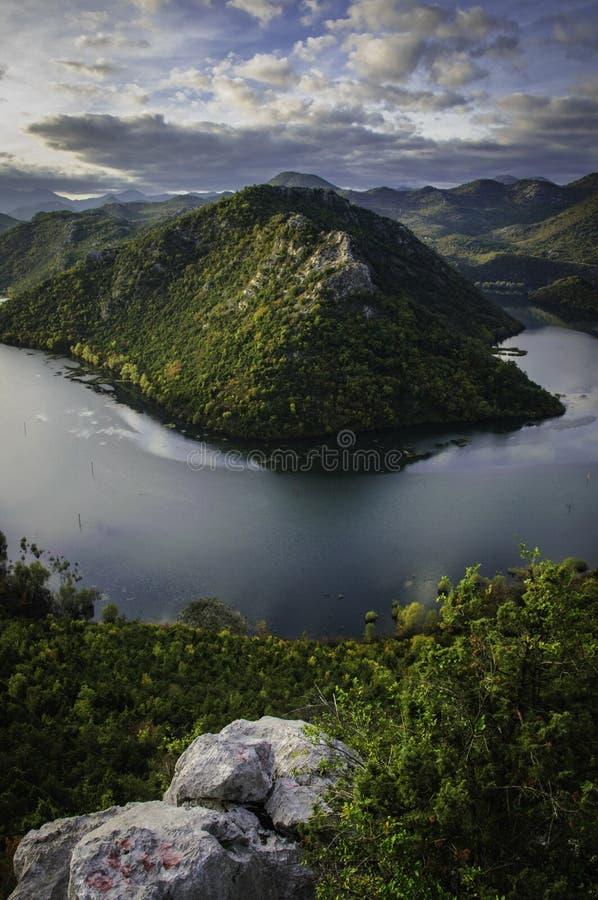 Lac Skadar image stock