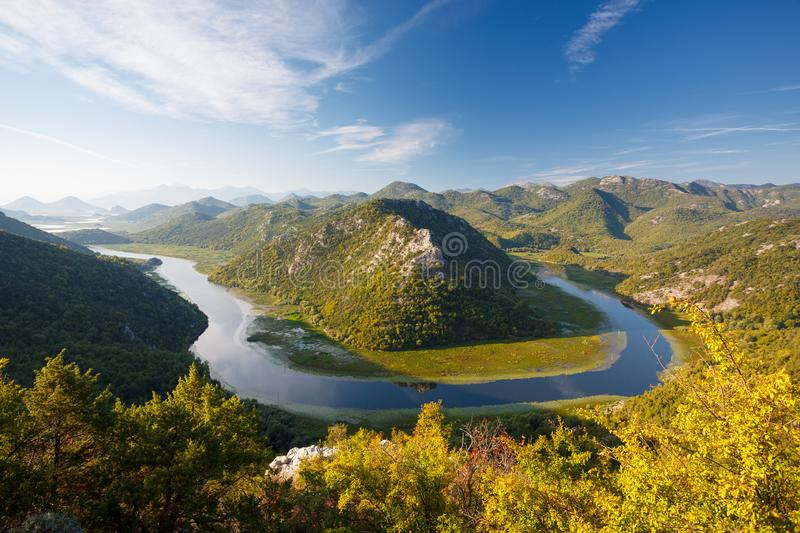 Lac Skadar, Mont?n?gro images stock