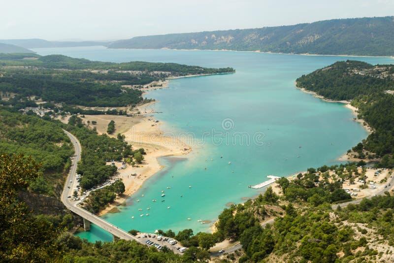 Lac st Croix, dans les gorges du Verdon, Provence, France photographie stock libre de droits
