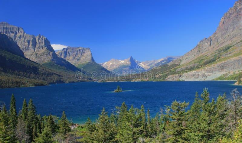Lac st. Mary de point de Sun image stock
