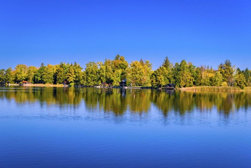 Lac Staffelsee près de Murnau, Bavière, Allemagne photos libres de droits