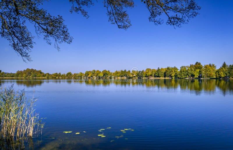 Lac Staffelsee près de Murnau, Bavière, Allemagne image stock