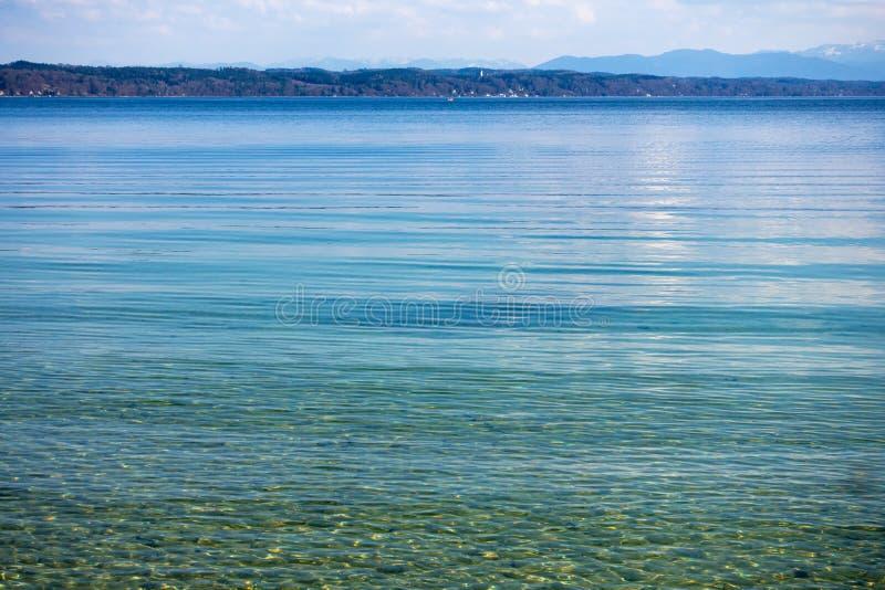 lac Starnberg de surface de l'eau photos libres de droits