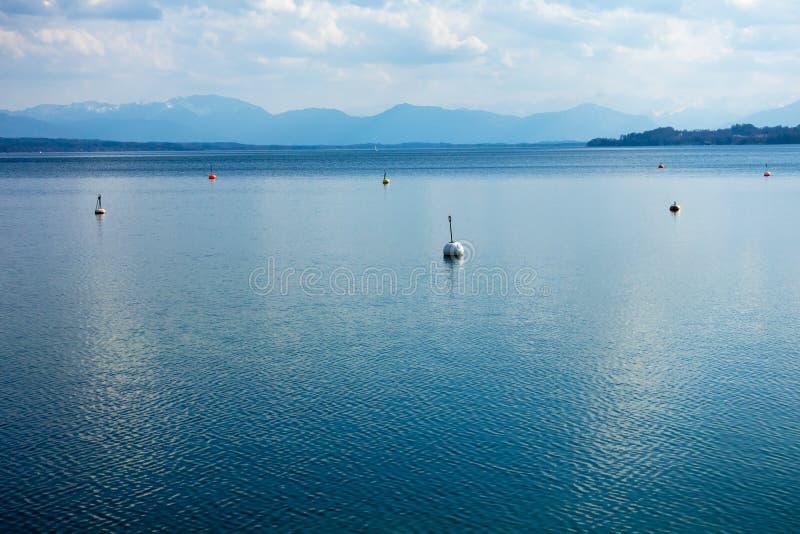 lac Starnberg de surface de l'eau photo libre de droits