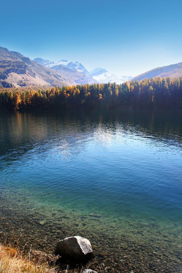Lac suisse d'automne photo libre de droits