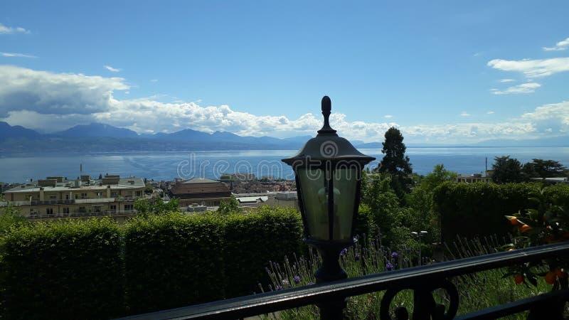 Lac suisse de Genève Lausanne Suisse de leman photo libre de droits