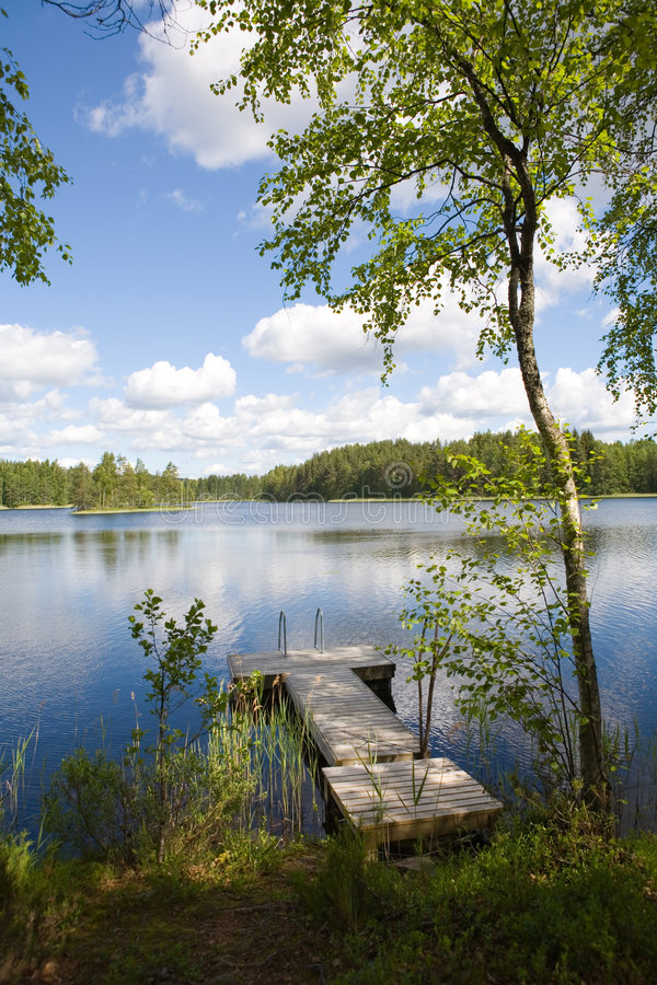 Lac summer photographie stock