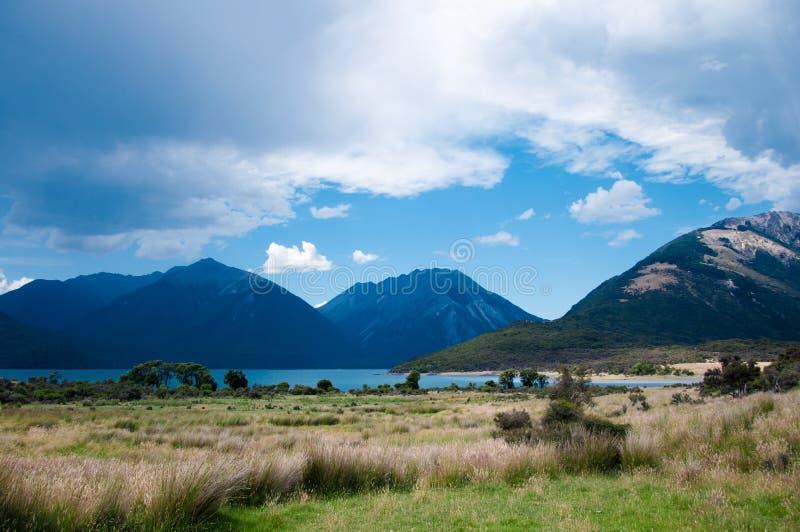 Lac Sumner, Cantorbéry, Nouvelle-Zélande images stock